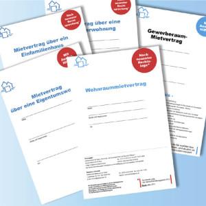 Mietverträge von Haus & Grund auf Papier