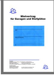 mietvertrag fr garagen und stellpltze - Mietvertrag Garage Muster